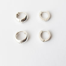 huggies round and flat in sterling silver