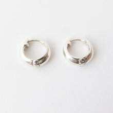 tapered huggie earrings in sterling silver by Savage Jewellery, South Africa
