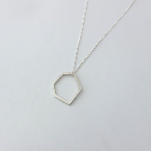 Hexagonal Pendant on Chain