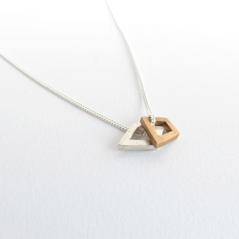 Double Tiny Quadrilateral necklace
