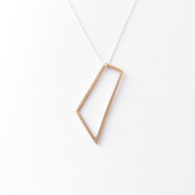 Long Quadrilateral Pendant in Bronze