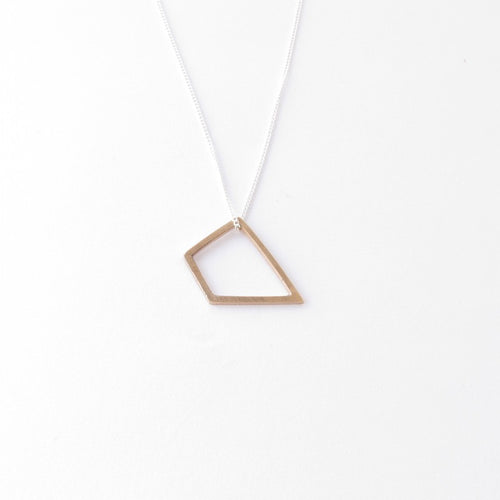 Medium Quadrilateral Pendant in Bronze