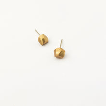 Tiny bronze nugget studs by Savage Jewellery