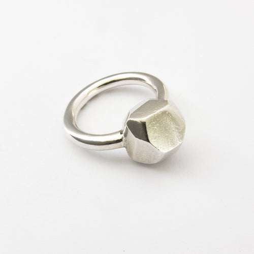Nugget ring in silver or bronze - large