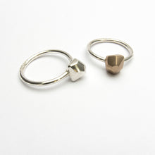Nugget ring in silver or bronze - small