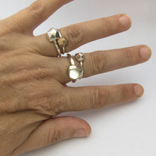Nugget ring in silver or bronze - medium
