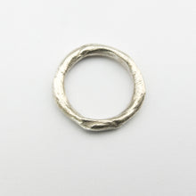 silver organic ring 3mm by Savage Jewellery
