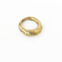 designer organic ring in brass by Savage Jewellery in Durban, South Africa
