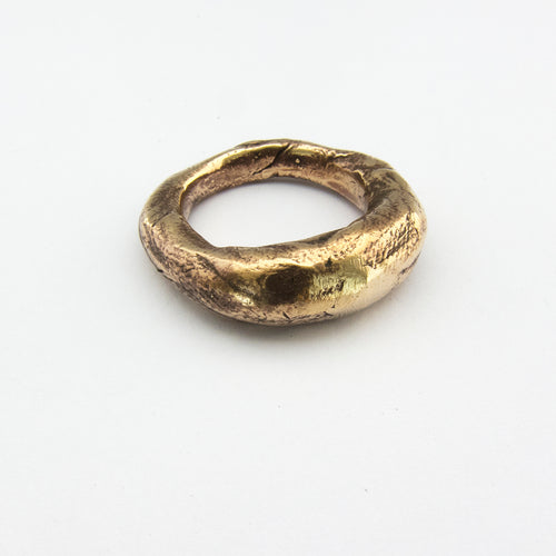 Tapered organic ring in silver or bronze