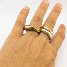 Organic ring in silver or bronze - 5mm