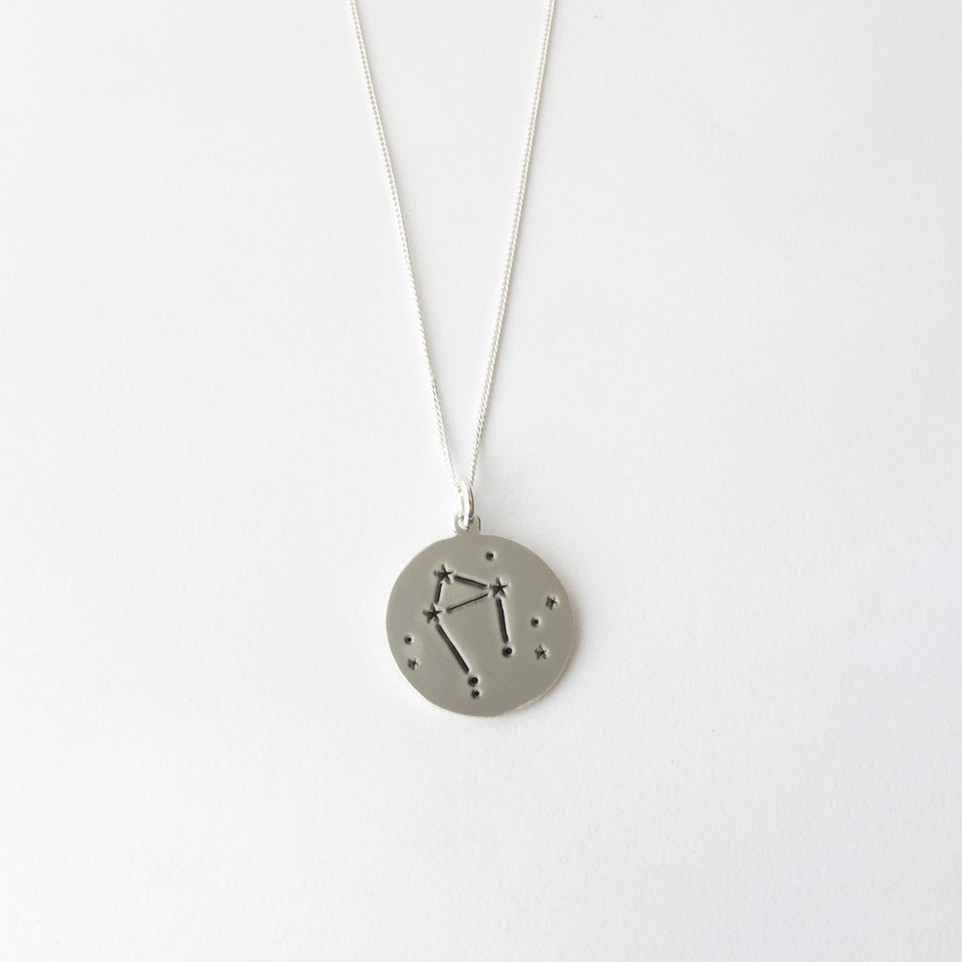 Zodiac constellations - Libra necklace - by Savage Jewellery modern horoscope jewelry