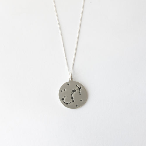 Zodiac constellations - Scorpio necklace - by designer Savage Jewellery modern horoscope jewelry