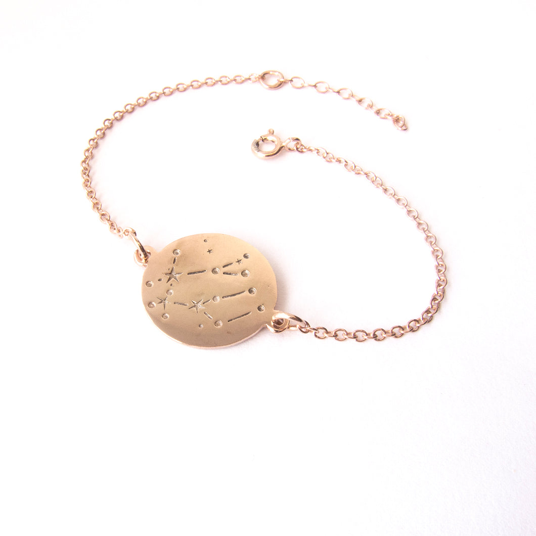 zodiac constellation rose gold bracelet - Gemini by Savage Jewellery star signs