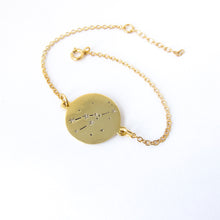 star sign constellations yellow gold bracelet - Taurus by Savage Jewellery Zodiac jewelry