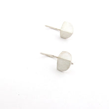 Folded Semi-circle drop earring
