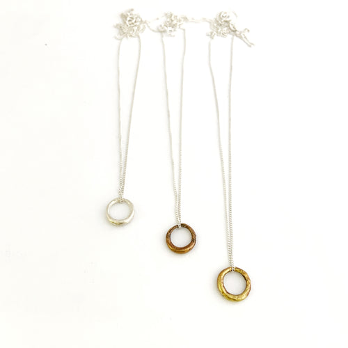 Organic circle necklace - small
