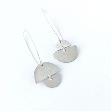 Sunrise sunset asymmetrical earrings in sterling silver by Savage Jewellery