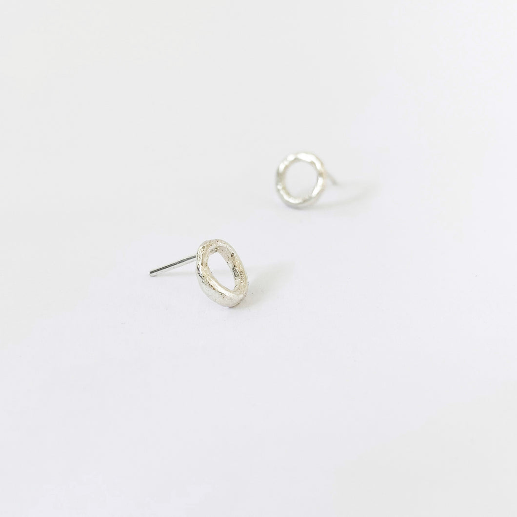 Simple circle studs for the perfect gift by Savage Jewellery