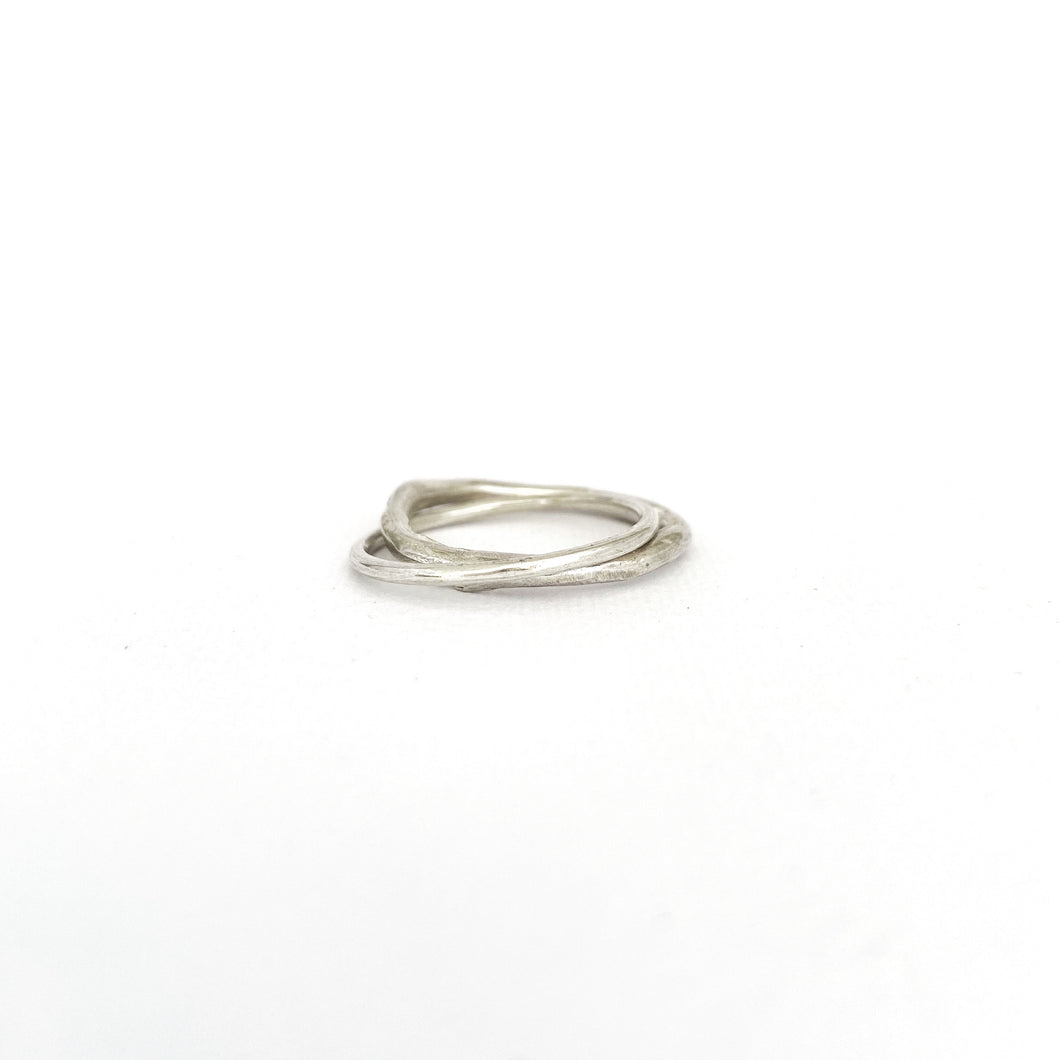 Organic Unity Ring in silver - 2mm