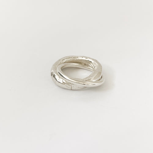 Organic Unity Ring in silver  - 5mm