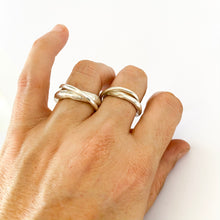 Minimalist wedding/unity rings have an organic feel - by designer Savage Jewellery