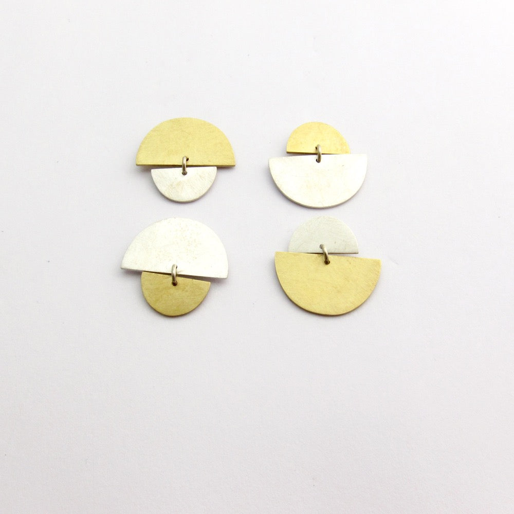 Sunrise Sunset two tone studs - small