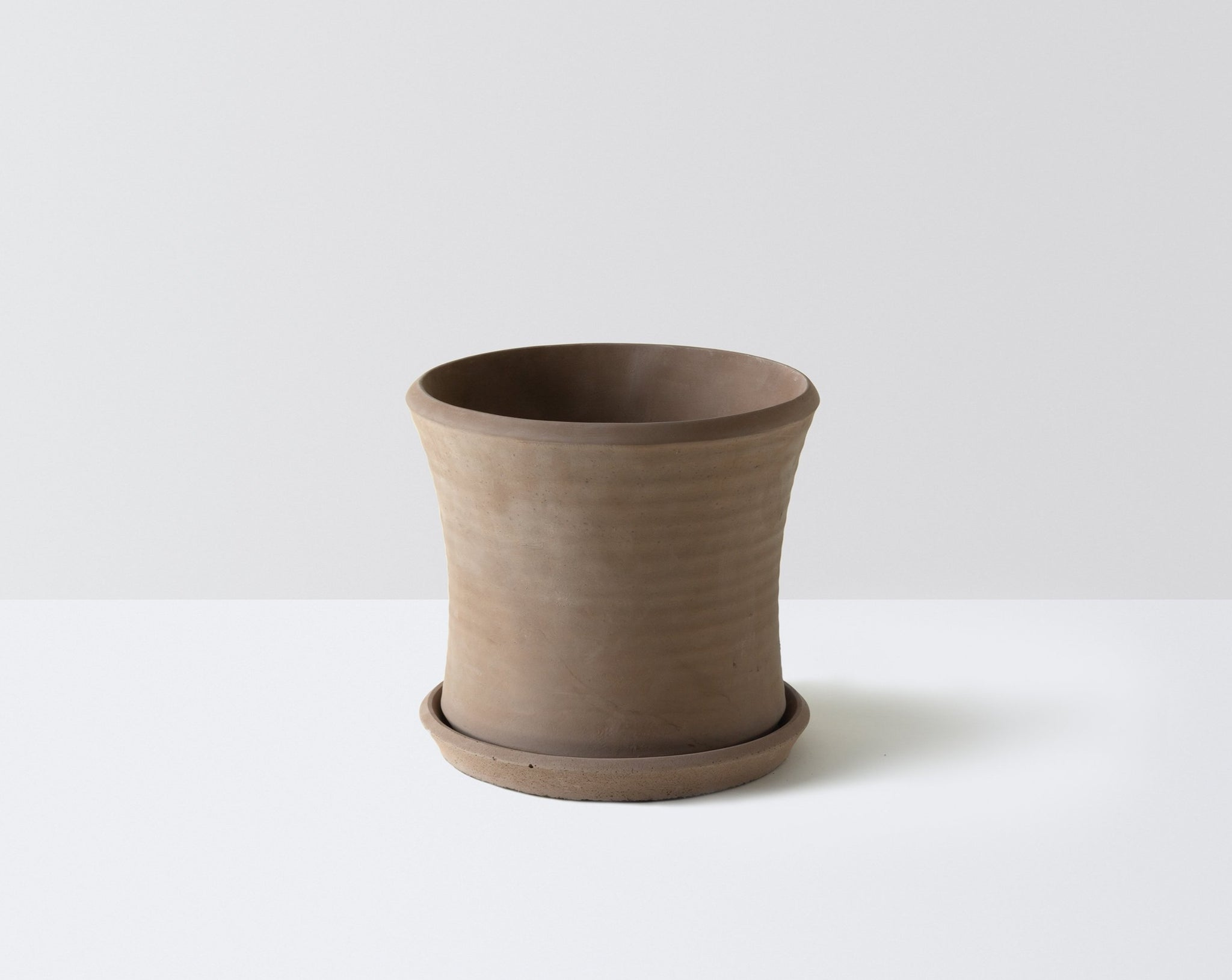 Natural Pot with Tray