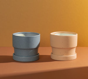 Textured Pots with Tray - S