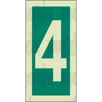 Green No. 4 (150x75mm) Photoluminescent Sign