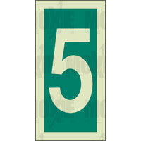 Green No. 5 (150x75mm) Photoluminescent Sign