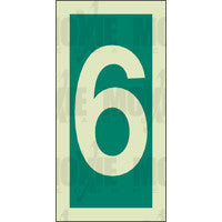 Green No. 6 (150x75mm) Photoluminescent Sign