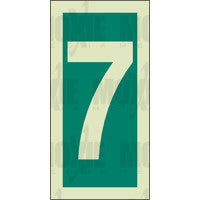 Green No. 7 (150x75mm) Photoluminescent Sign