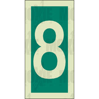 Green No. 8 (150x75mm) Photoluminescent Sign