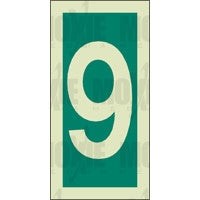 Green No. 9 (150x75mm) Photoluminescent Sign