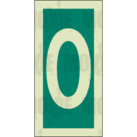 Green No. 0 (150x75mm) Photoluminescent Sign