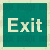 Exit (150X150mm) Photoluminescent Sign