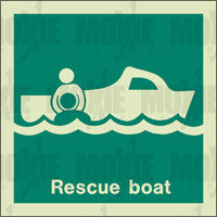 Rescue Boat (150X150mm) Photoluminescent Sign