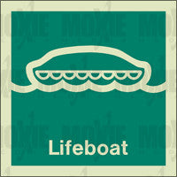 Lifeboat (150X150mm) Photoluminescent Sign