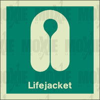 Lifejacket (150X150mm) Photoluminescent Sign