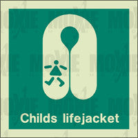 Child's Lifejacket (150X150mm) Photoluminescent Sign