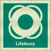 Lifebuoy (150X150mm) Photoluminescent Sign