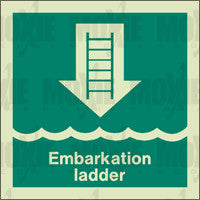 Embarkation Ladder (150X150mm) Photoluminescent Sign