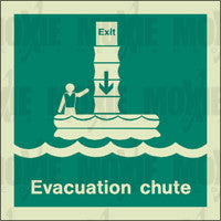 Evacuation Chute (150X150mm) Photoluminescent Sign