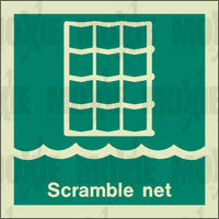 Scramble Net (150X150mm) Photoluminescent Sign