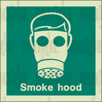 Smoke Hood (150X150mm) Photoluminescent Sign