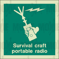 Survival Craft Portable Radio (150X150mm) Photoluminescent Sign