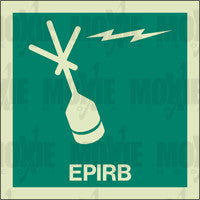 EPIRB (150X150mm) Photoluminescent Sign