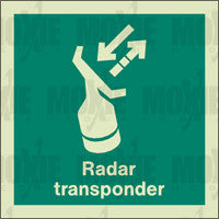 Radar Transponder (150X150mm) Photoluminescent Sign