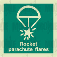 Rocket Parachute Flares (150X150mm) Photoluminescent Sign