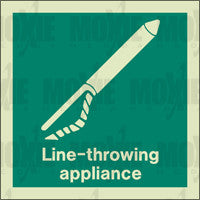 Line-Throwing Appliance (150X150mm) Photoluminescent Sign